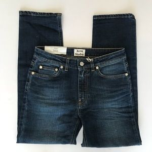 Acne Studios Cropped Jeans Straight 26 Row Prince